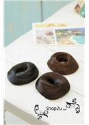 甜甜圈式丸子头假发圈(6 色可选)