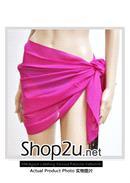 特价~素色短沙滩巾(玫红)