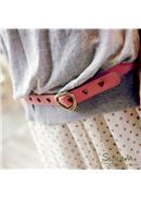特价~饱和多彩爱心篓空造型皮带(4色可选)