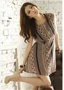 Chiffon Dress(Coffee)