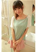 Chiffon Blouse (Candy Green)