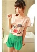 Trendy Short Pants(Green)