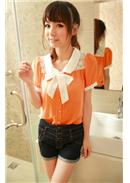 Chiffon Blouse(Orange)