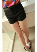 Cotton Short Pants(Black)