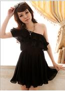 Chiffon Dress(Black)