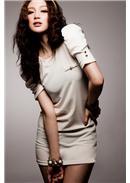 优雅宠儿◆金扣公主袖连身裙(白色)