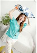 [Tokyo Fashion]2pcs Casual T-Shirt(Light Blue)