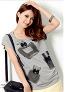 Extra Large~Cotton T-Shirt(Grey)
