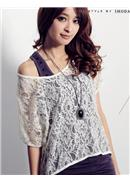 Extra Large~Lace Blouse(Almond)