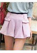 显瘦时髦松紧腰西装裤(粉色)