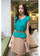 Extra Large~Chiffon Dress(Green)