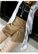 Cotton Short Pants (Khaki)