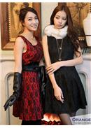 Extra Large~Lace Dress(Black)