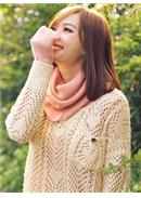 [Tokyo Fashion]Knitted Long Collar Top (Dark Pink)