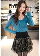 Extra Large~Woolen Skirt(Green)