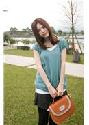 Extra Large~Knitted Blouse(Lake Blue)