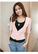 Knitted Jacket(Pink)