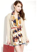 Cotton Long Jacket(Almond)