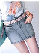 人气单品包臀裙牛仔短裙