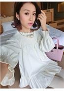 两穿百褶孕妇连身裙(白色)